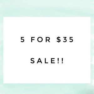 5 items for only $35!!!!! WOW 🤩